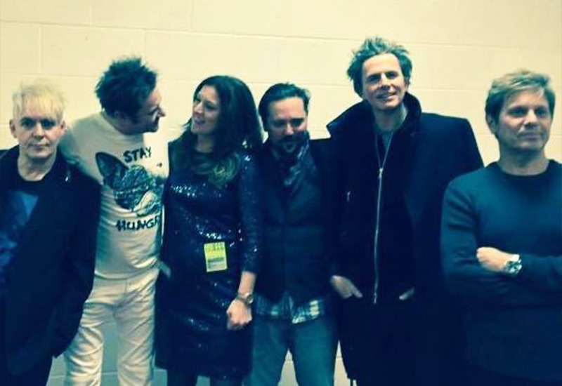 Claire and Paul king with Duran Duran