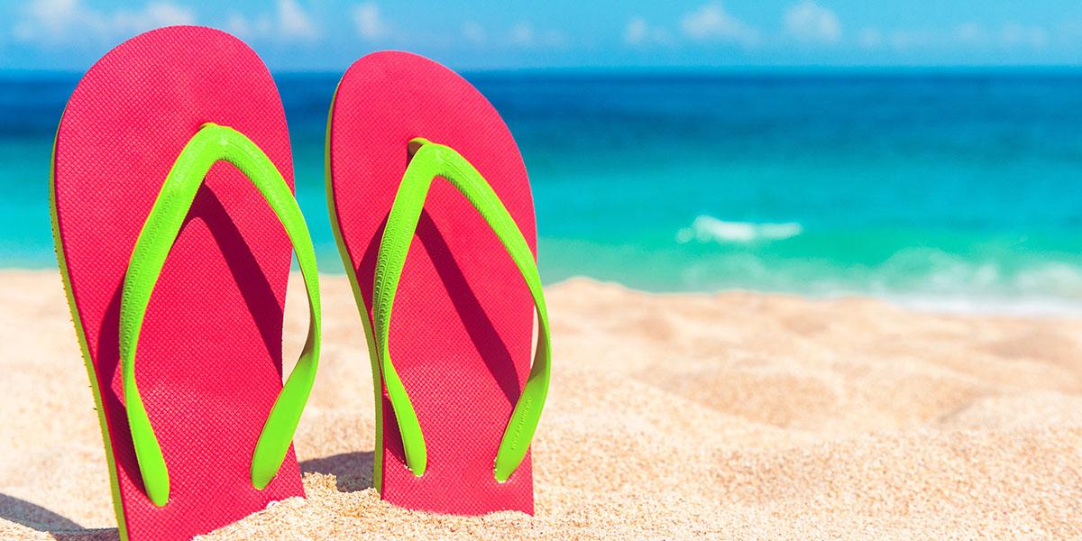 pack a pair of flip flops