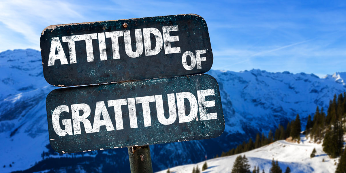 A sign showing gratitude