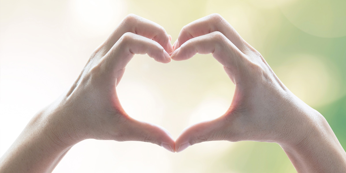 hands in a heart shape