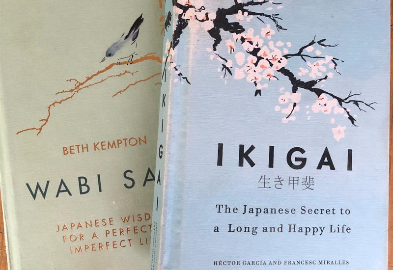 Ikigai and Wabi Sabi books