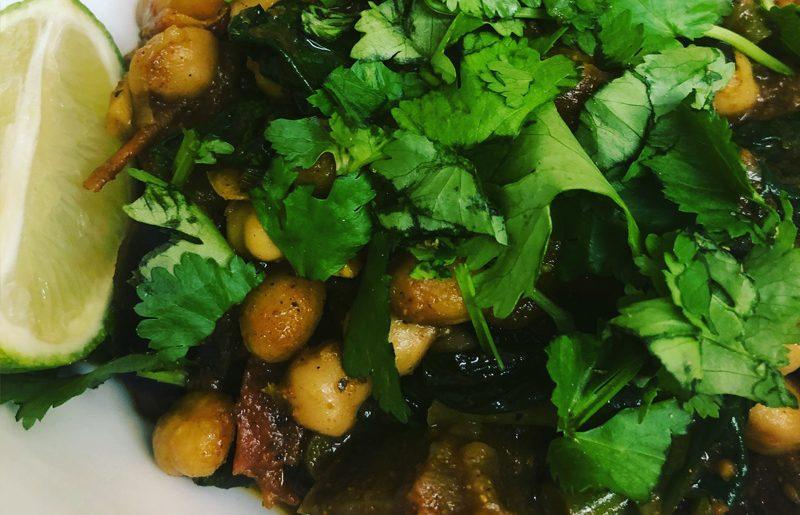 Curry: Aubergine, Mushroom & Chickpea Curry