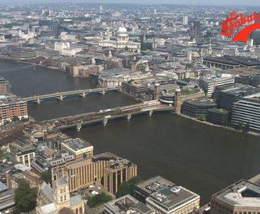 The River Thames and her bridges taken from The Shard