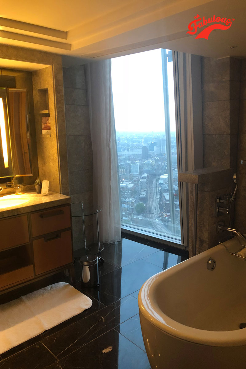 The bathroom suite at The Shard