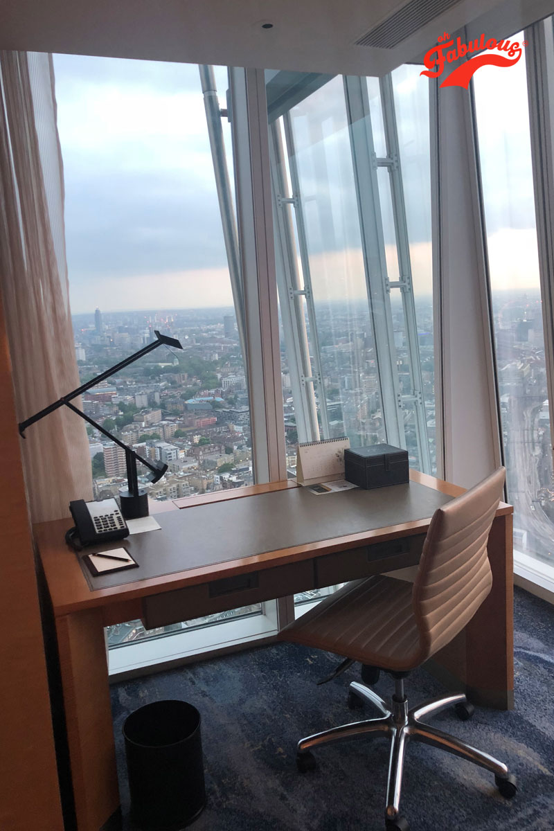 The office in the Shangri-La hotel suite at The Shard